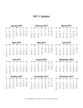 Printable calendar 2017 blank templates usable calendar for Usable calendar template