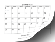 2017_Bottom_Month calendar